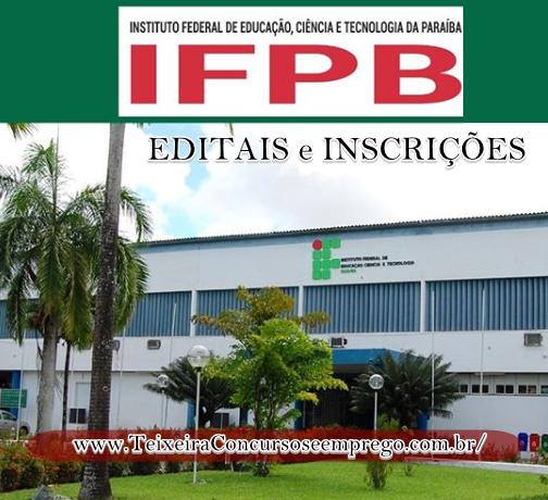 Concurso Público da IFPB abre inscrições para até 25 de fevereiro