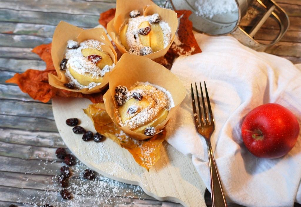 www.zauberhaftwohnen.com / Herbstleuchten / Apfelzimtmuffins
