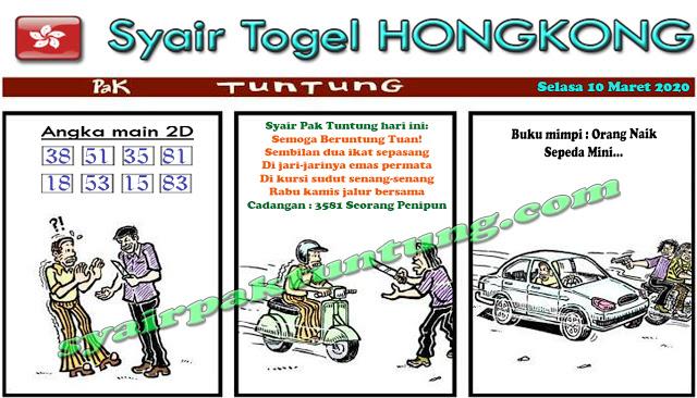 Prediksi Togel Hongkong Malam Ini 10 Maret 2020 - Prediksi Pak Tuntung