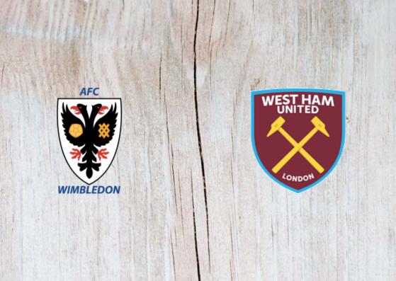AFC Wimbledon vs West Ham - Highlights 26 January 2019