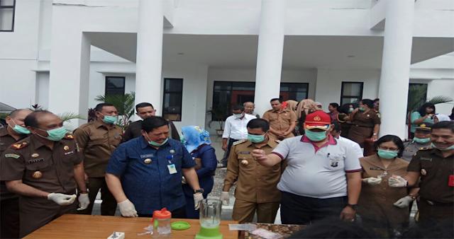 Kejari Kota Siantar Musnahkan Barang Bukti Narkotika Senilai Ratusan juta Rupiah.