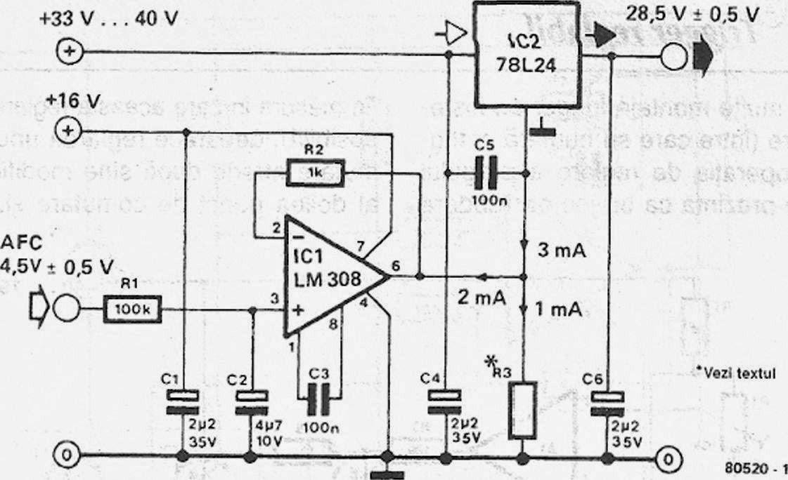 reglarea tensiunii pe dioda varicap cu ajutorul tensiunii