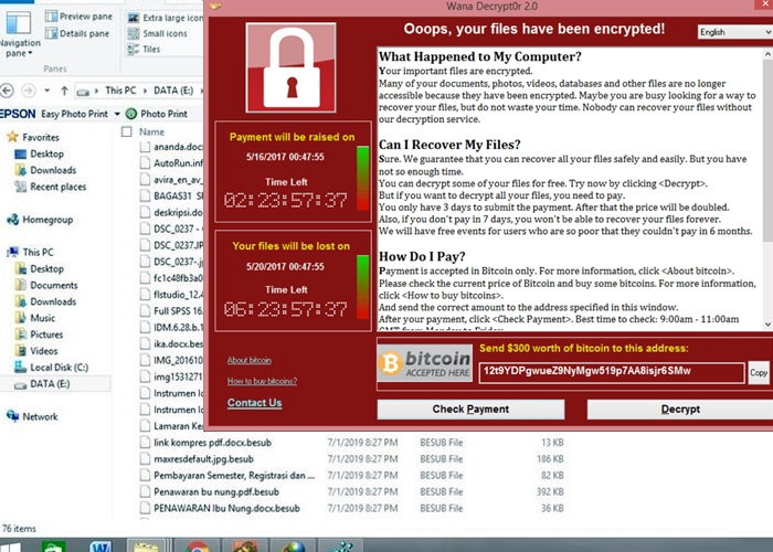 Cara Mengembalikan File Virus Ransomware