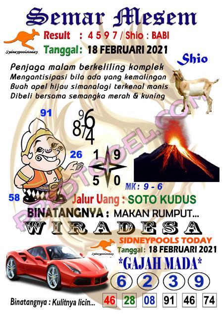 Syair Semar Mesem Sdy Kamis 18 Februari 2021