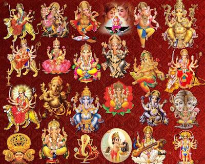 Hindu God-Goddess clipart