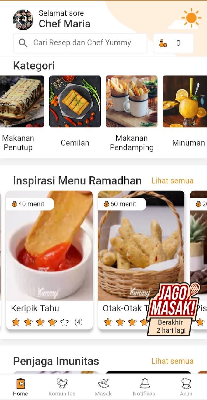 Bingung Mau Masak Apa ? Download Yummy App Aja
