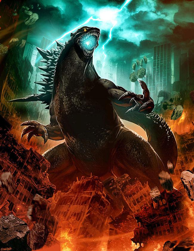 Genzoman aka Gonzalo Ordóñez Arias (Chile) - Godzilla art