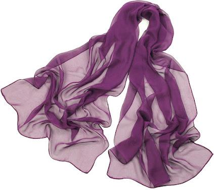 Plain Purple Chiffon Scarf