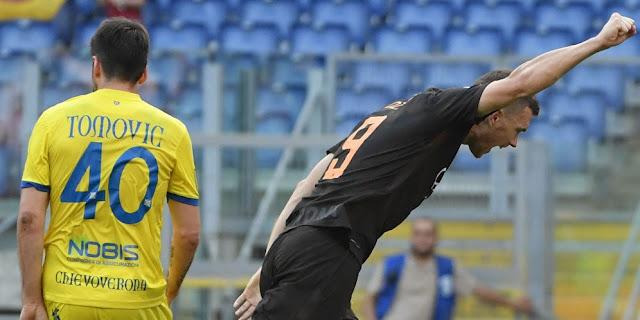 Roma Menang 4-1 Atas Chievo Memantapkan Posisi Di Peringkat Tiga