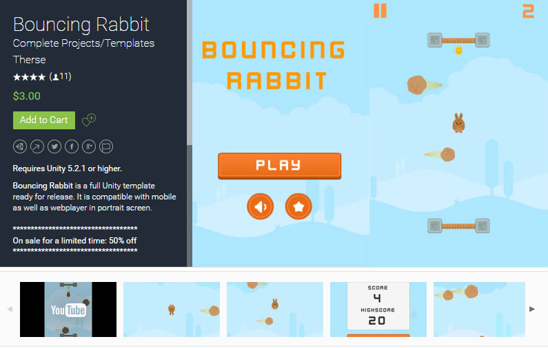 Bouncing Rabbit Unity Free   All Free Sources