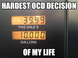 Hardest OCD decision of my life petrol gas pump station