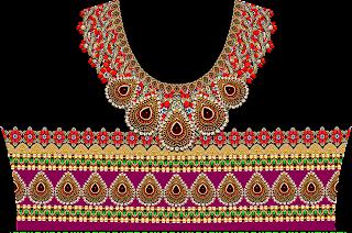 Jewelry Print Lehenga Textile Digital Design - Front 2739