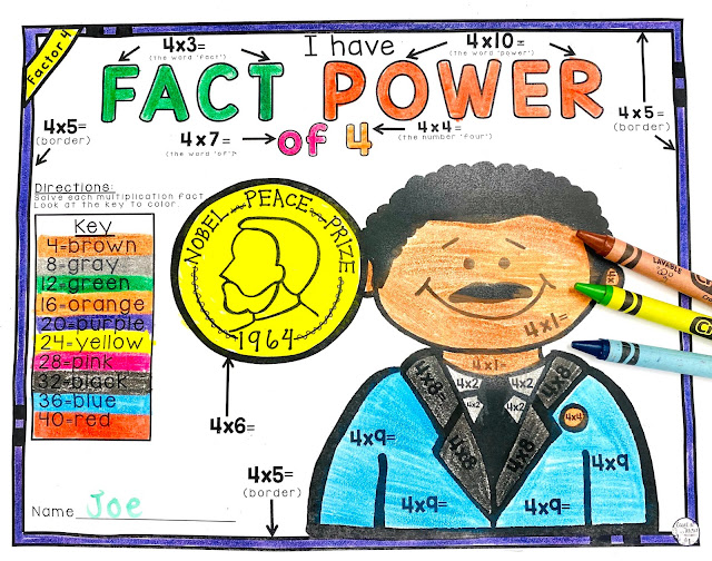 On the looking for some Martin Luther King Math activities? Then you're in luck! This post is full of great ideas you can use with your 3rd, or 4th grade classroom and homeschool students! Use them as review, for math center or stations, with small groups, for whole group lessons, and more!  Your students will be so engaged they won't even know they're learning!