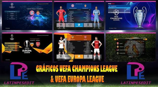 Europa League Graphics Menu PES 2017