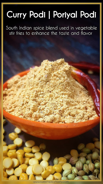 Curry podi /Kari podi is an aromatic spice blend from South indian kitchen to enhance the stir fries and curries .also known as Poriyal podi, cari podi, curry ma podi,poriyal podi , kari podi, how to make curry podi , kari podi recipe at home