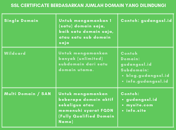 ssl jumlah domain