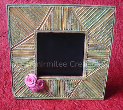 kalanirmitee: lamasa clay craft-frame-clay flowers