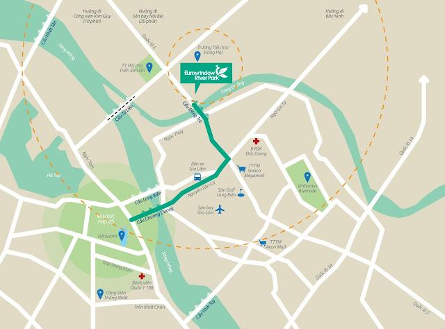Vị trí quy hoạch xây dựng dự án EuroWindow River Park