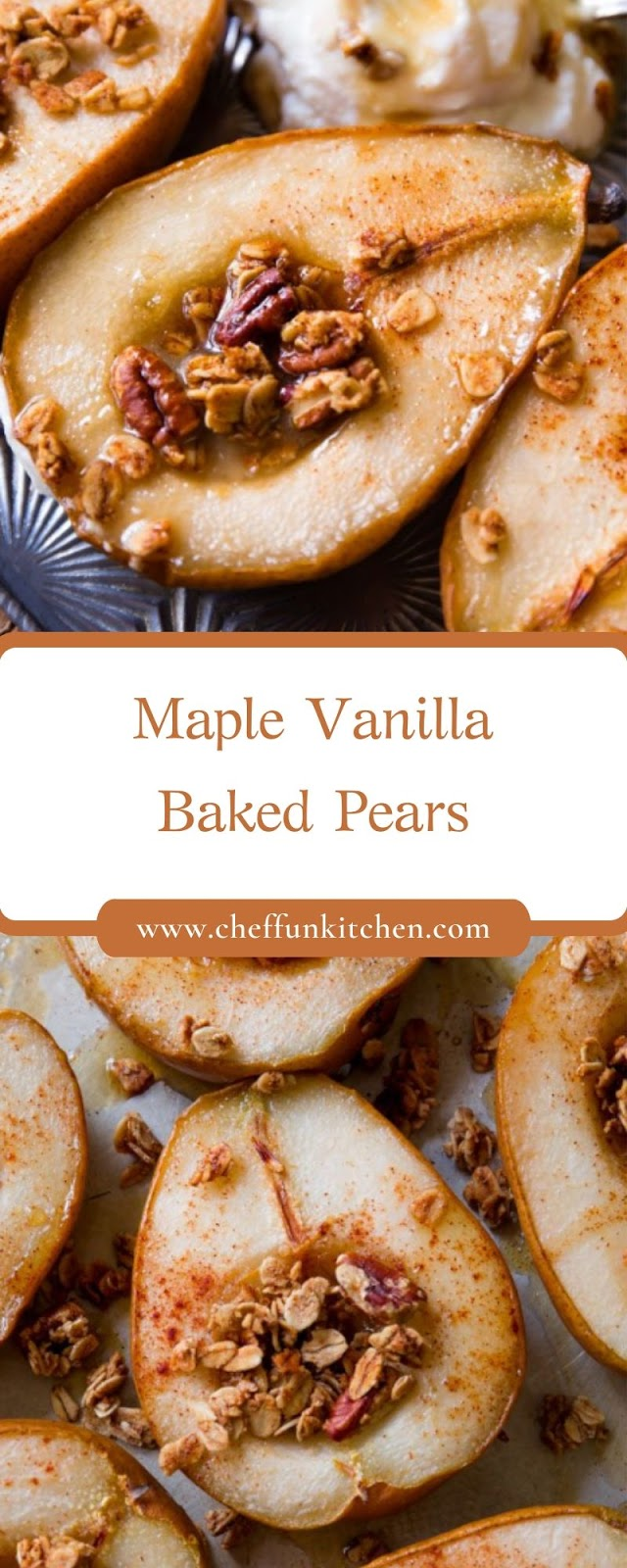 Maple Vanilla Baked Pears