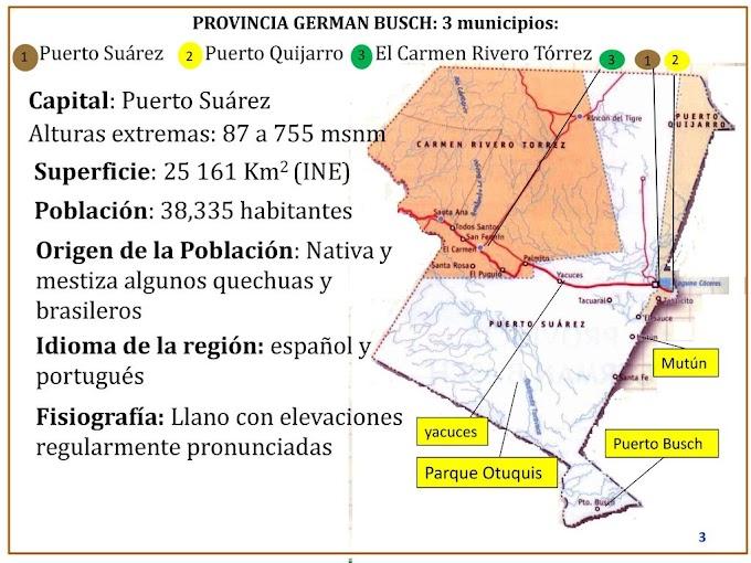 Provincia Germán Busch: departamento de Santa Cruz