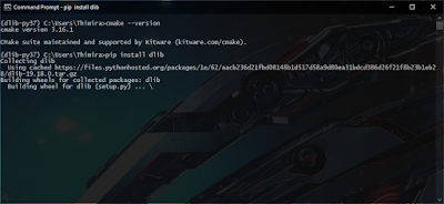 Dlib pip install running
