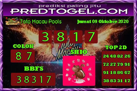 Pred Macau Jumat 09 Oktober 2020