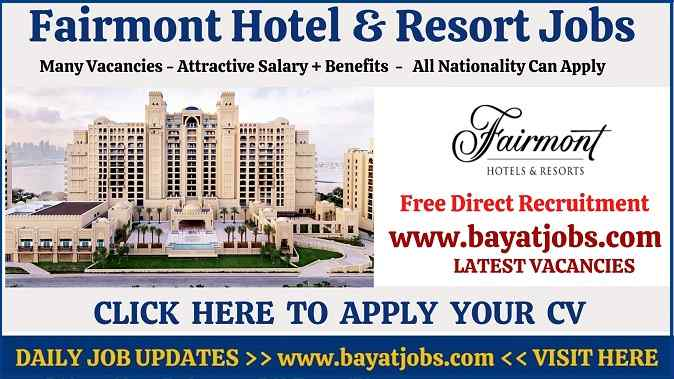 Fairmont Careers & Hotel Latest Jobs