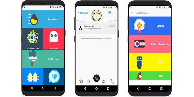تنزيل وتحميل تطبيق  WhatsApp Aero   تغير شكل الواتس اب ومزايا جديدة
