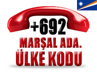 +692 Marşal Adaları ülke telefon kodu
