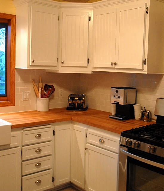 Kitchen Butcher Block Cabinets : Remodelaholic House Envy Kitchen Remodel Reveal!
