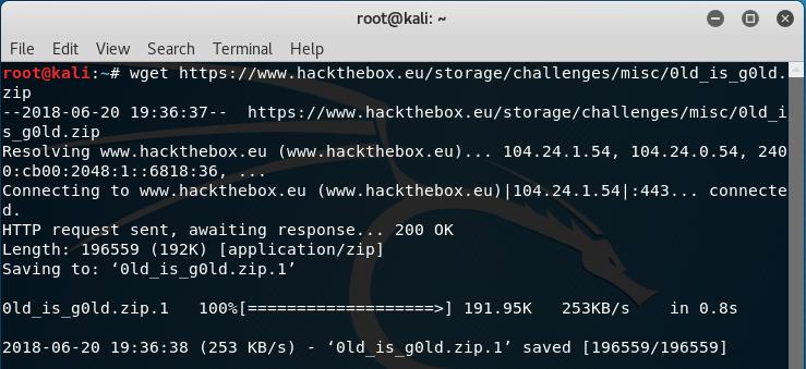 Hack the Box Challenge: 0ld is G0ld