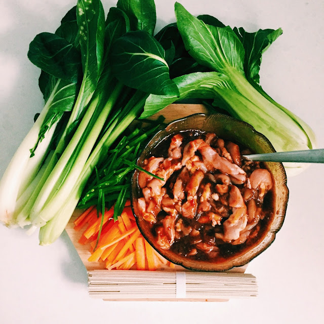 Honey Soy stirfry ingredients by GoodFoodWeek