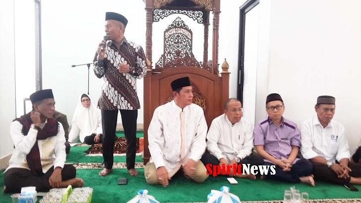 Ketua Umum PWI Pusat, Ikut Doa dan Zikir Bersama Pengurus PWI Sulsel di Masjid Wartawan