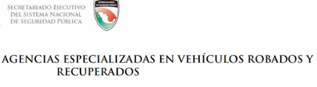 Coahuila Repuve coches con reporte de robo y Oficinas
