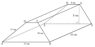 volume dan luas permukaan prisma trapesium sebarang