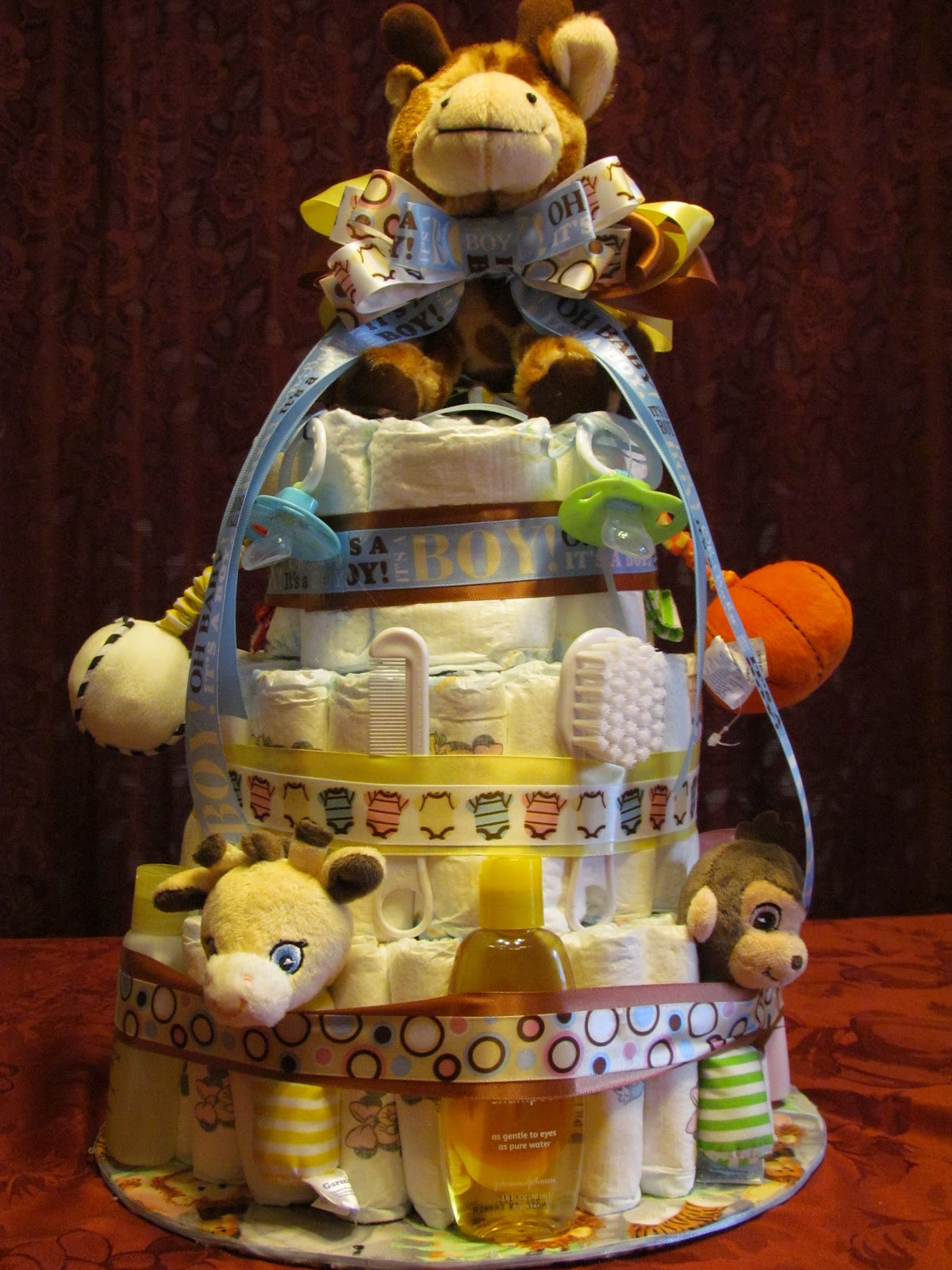Mom S Little Place Diaper Cake For A Baby Shower