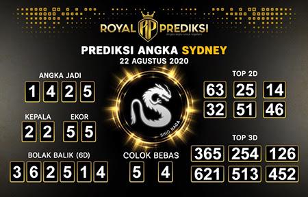 Royal Prediksi Sidney Sabtu 22 Agustus 2020