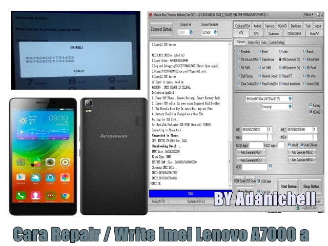 Cara Repair / Write Imei Lenovo A7000