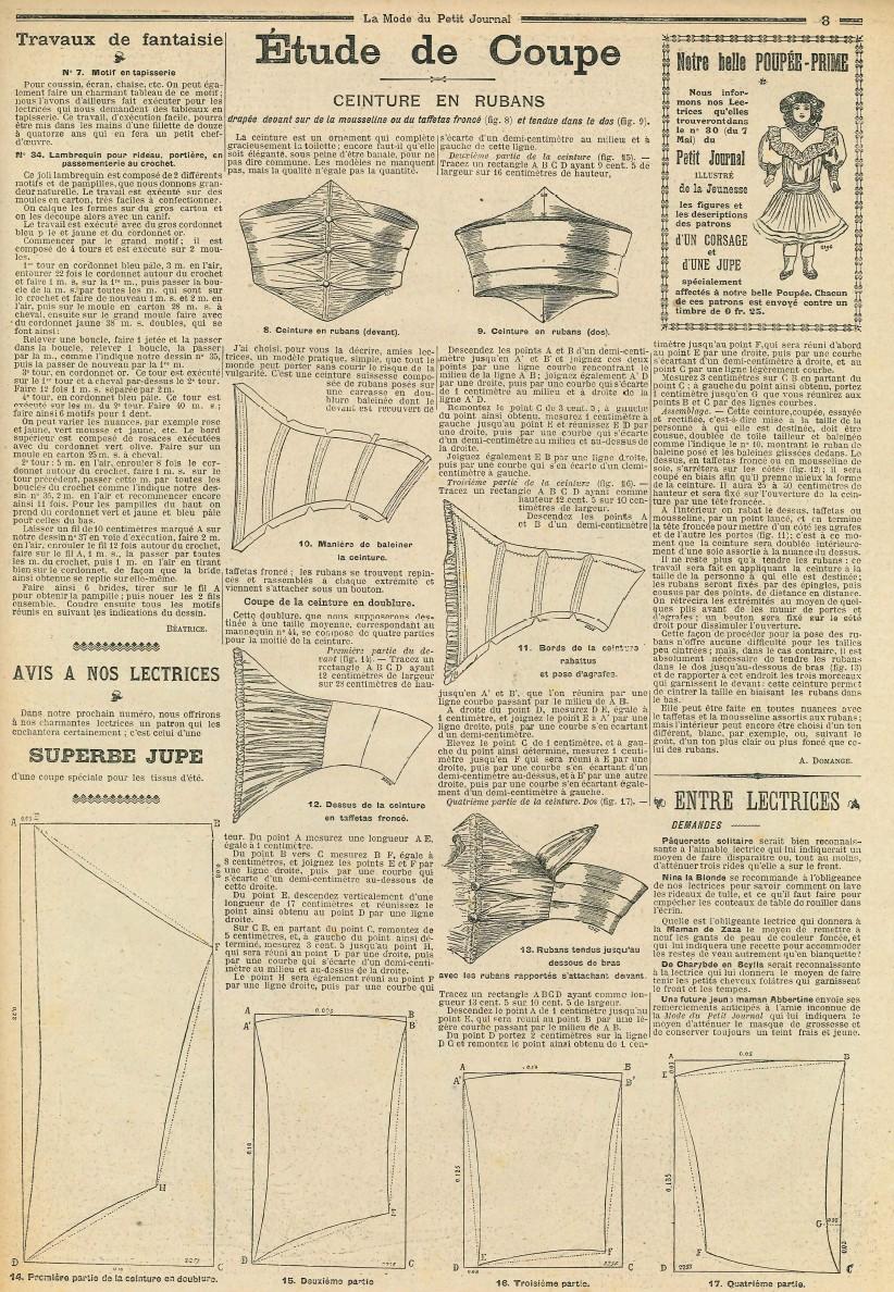 Le blog de callisto la mode du petit journal 21 et 28 mai 1905 - Le journal de la mode ...