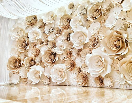 Paper Flower Background Photobooth