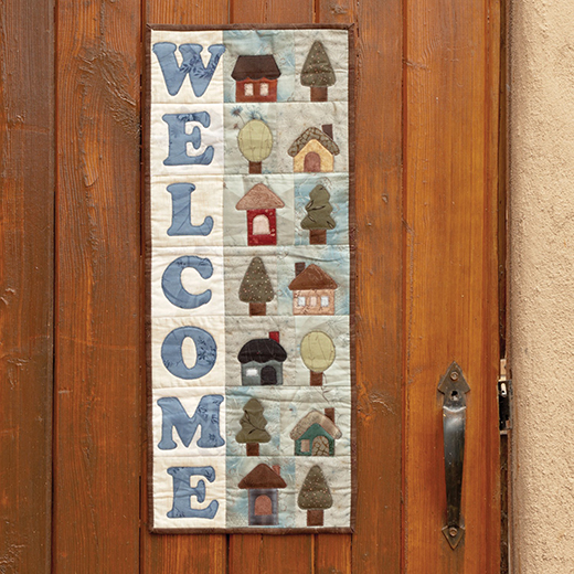 Welcome Home Wall Hanging Free Quilt Pattern