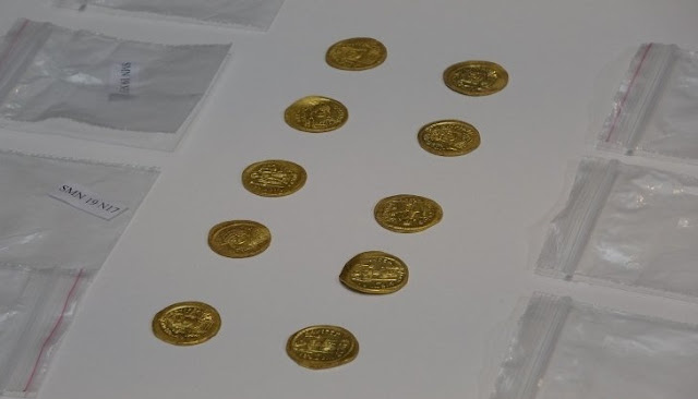 68 early Byzantine gold coins found in northwest Turkey
