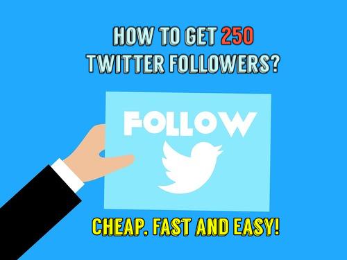 Buy 250 Twitter Followers