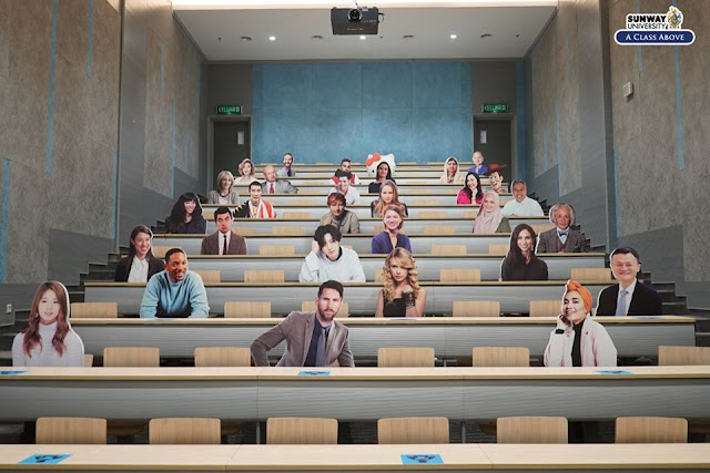 #MostHappeningCampus penjarakan sosial di sunway university