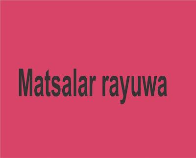 Matsalar Rayuwa Complete Littafin Hausa