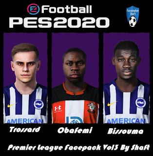 PES 2020 Premier League Facepack vol 3 by Shaft