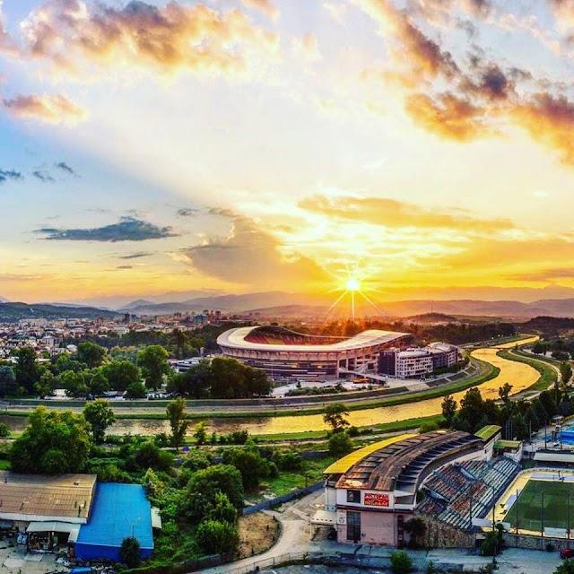 Bild des Tages - Sonnenuntergang in Skopje