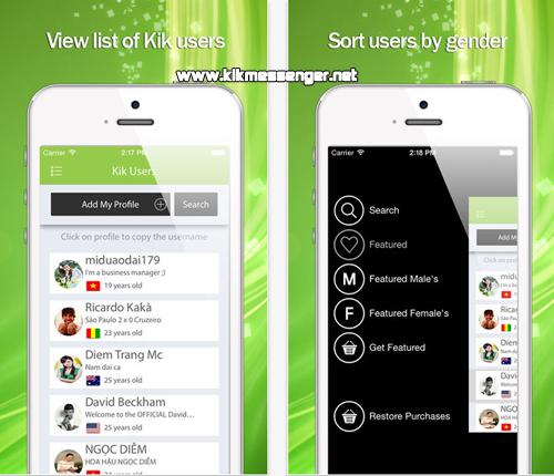 Amigas y amigos nuevos con K Usernames For Kik en tu iPhone