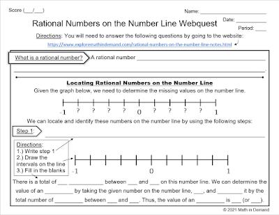 Math Webquest