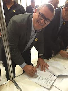 Prefeito Geraldino Júnior assinou convênio para obras de drenagem no boqueirão norte